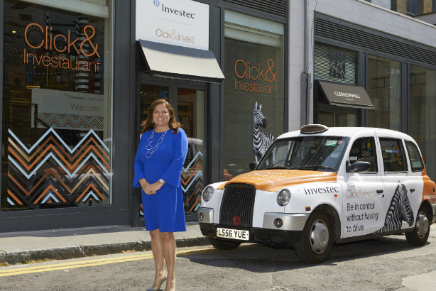 Jane Warren, CEO of Investec Click & Invest, at the brand's 'Investaurant'