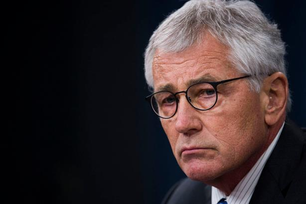 Outgoing Secretary of Defense Chuck Hagel