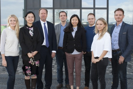 Honey team: (l-r) Tara Greenwell, Li Ma, Dirk Singer, Mark Adams, Jo Liu, Chris Adams, Kara Kibble and Mark Terry-Lush