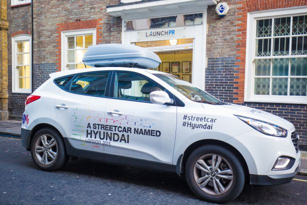 Hyundai: Launch PR kicks off a 50-day drive through central London