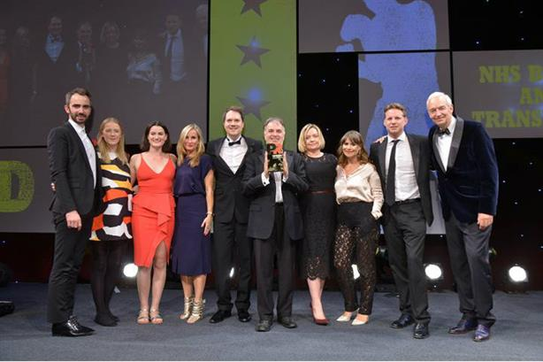 Newsreader Jon Snow (far right) hosted the PRWeek UK Awards 2016