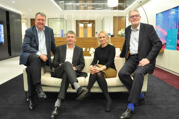 From left to right: Instinctif CEO Nichols, Champollion CEO Buckby, Champollion MD McCartney, Instinctif public policy chief Smith