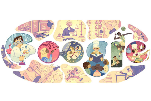 Google: Celebrated International Women's Day with a Doodle dedicated to women's achievements