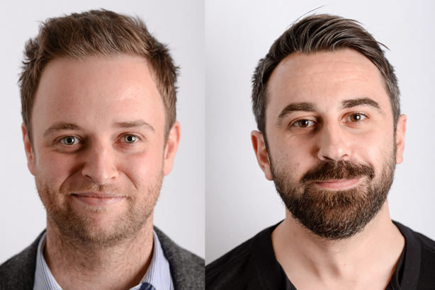 Jack Peat (left) and Daniel Drage (right): Have joined 72Point in bid to focus on digital