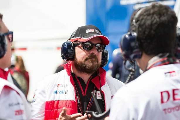 Petrolhead: Clark visiting the Toyota Racing Team in the pits at Le Mans earlier this year