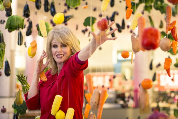 Eat the Rainbow: Joanna Lumley unveils fruit and vegetable installation as part of M&S' new campaign