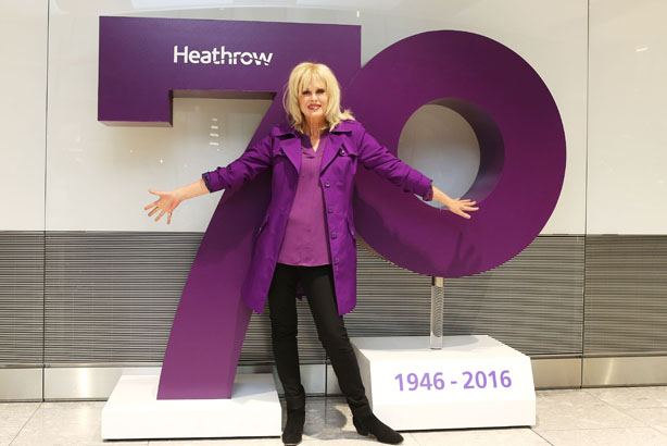 Heathrow's 70th birthday celebrations featured Joanna Lumley