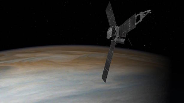 NASA's Juno spacecraft began orbiting Jupiter on Monday night. (Image via NASA's Facebook page).