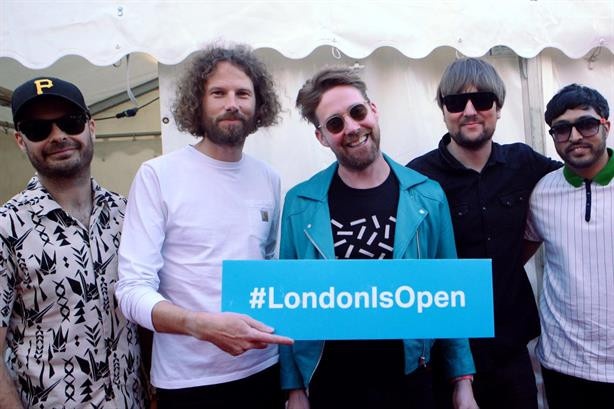 The Kaiser Chiefs are helping promote the Mayor's #LondonIsOpen campaign