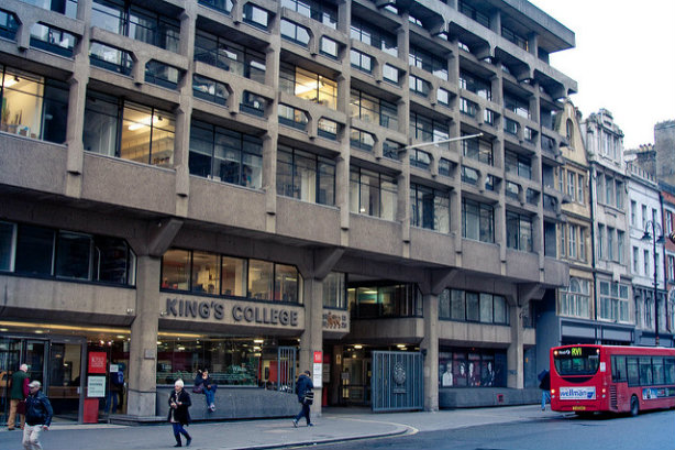 KCL is based on the Strand in central London (Credit: poppet with a camera via Flickr)