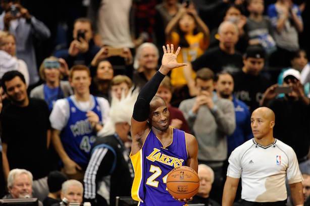 Kobe Bryant says goodbye to professional basketball tonight. (Image via Bryant's Facebook page).