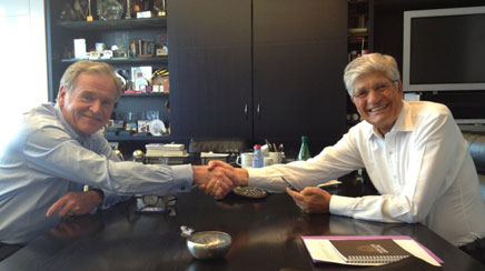 Omnicom and Publicis CEOs John Wren and Maurice Levy, respectively