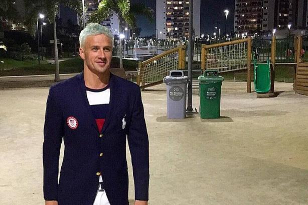 Lochte in Rio. (Image via the swimmer's Twitter account).