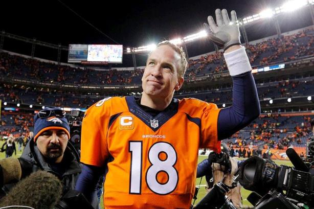 Peyton Manning walks off the field after Super Bowl 50. (Image via the NFL's Facebook page).