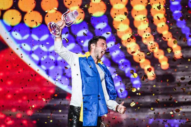 Eurovision: Last year's winner Måns Zelmerlöw of Sweden (Credit: Elena Volotova/EBU)