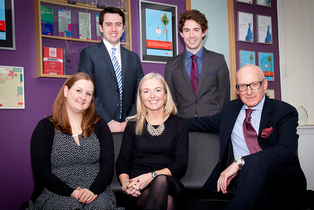 Acceleris team (l-r): Ellie Smith, Alex Whitaker, Louise Vaughan, Jack Williams, Peter Davenport