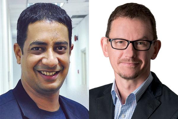 L-R: Mahesh Neelakantan, Paul Mottram