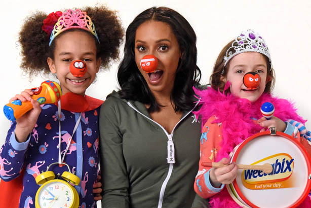 Mel B: The former Spice Girl stars in a rap video for Weetabix and Comic Relief campaign