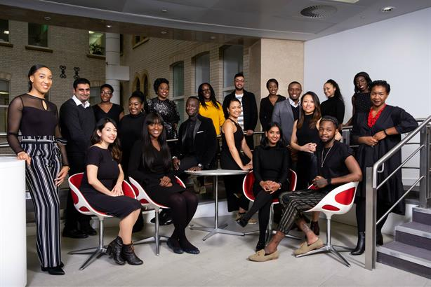 Mentoring: 2019 mentees and Elizabeth Bananuka of BME PR Pros (centre, in yellow top)