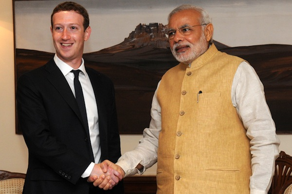 Mark Zuckerberg and Indian PM Narendra Modi (source: Narendra Modi)