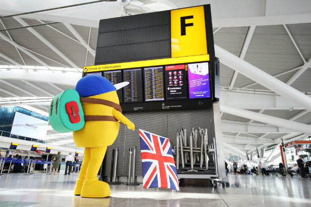 Mr Man character Mr Adventure is being used by Heathrow airport