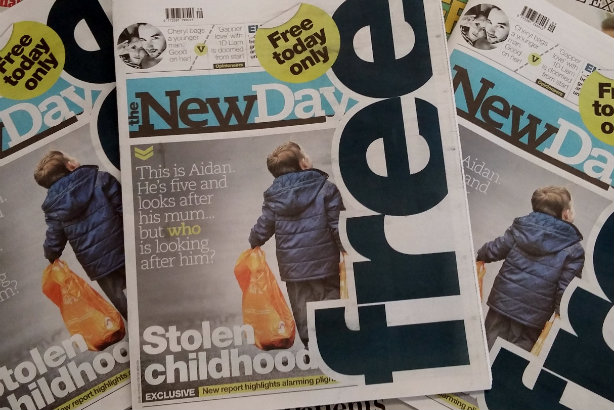 Short-lived: The first edition of The New Day on 1 March. The final edition is tomorrow (Friday)
