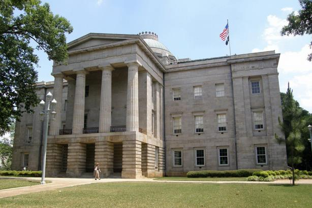 The state capital in Raleigh, North Carolina. (Image via Wikimedia Commons, by Jim Bowen from Fort Worth, US - http://www.flickr.com/photos/82538566@N00/751768884/, CC BY 2.0, https://commons.wikimedia.org/w/index.php?curid=2575996)