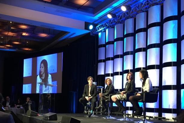 L-R: Ethan McCarty, Heide Gardner, Dawn Lyon, Tracy Chou