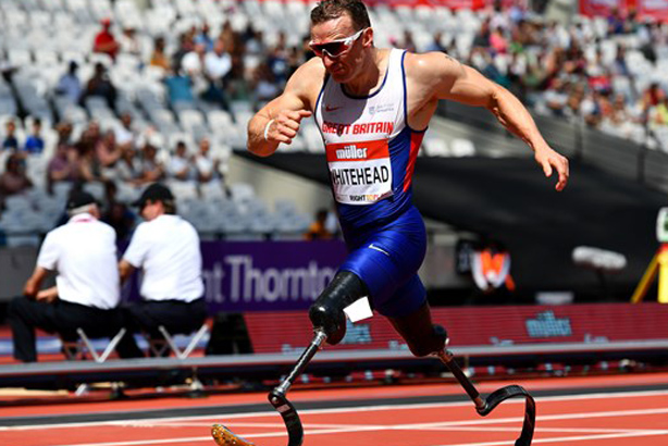 GB sprinter Richard Whitehead in action (Credit: Channel 4)