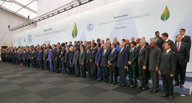 Heads of delegations at the 2015 United Nations Climate Change Conference in Paris. (Image via Wikimedia Commons, By Presidencia de la República Mexicana - https://www.flickr.com/photos/presidenciamx/23430273715/, CC BY 2.0, https://commons.wikimedia