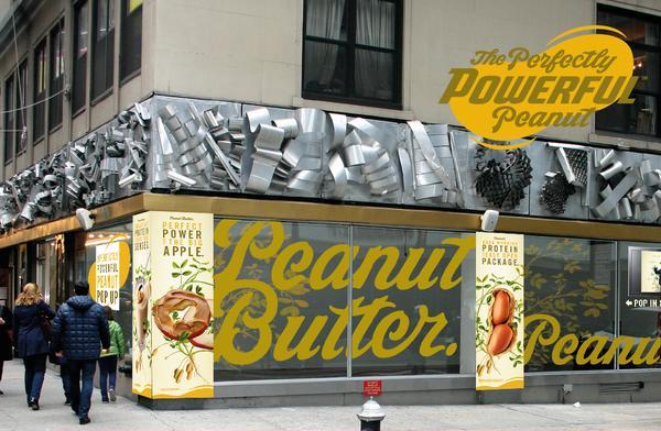 A peanut butter pop-up store in Manhattan in April.