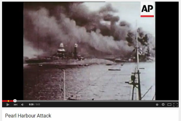 Pearl Harbour: The aftermath of the attack is among the footage – see bottom of story for full coverage