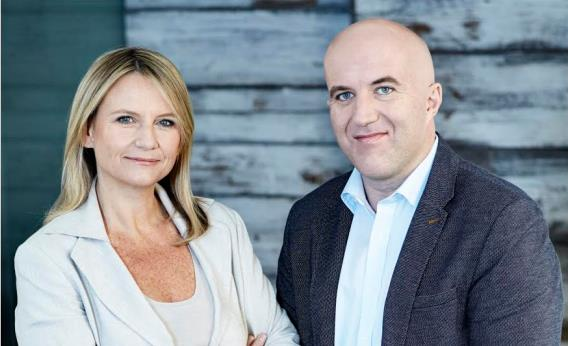 North Strategic cofounders Mia Pearson and Justin Creally. (Image via MSLGroup).