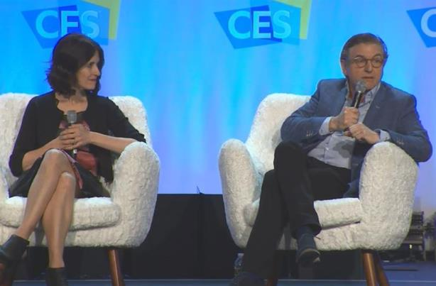 L-R: Michelle Peluso and Keith Weed.