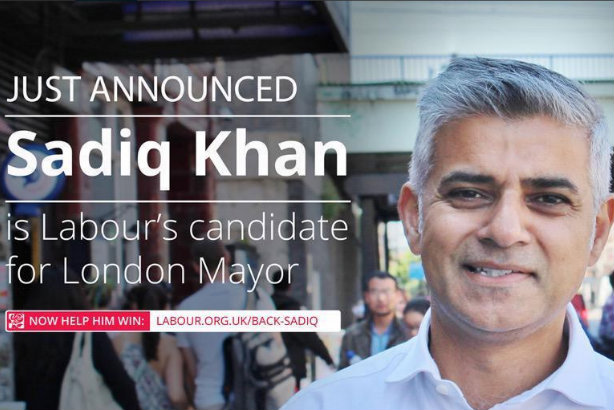 Labour made the announcement of Khan's victory on Twitter