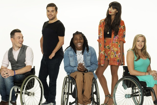 WNP: (l-r) Martin Dougan, Alex Brooker, Ade Adepitan, Jameela Jamil and Hannah Cockroft