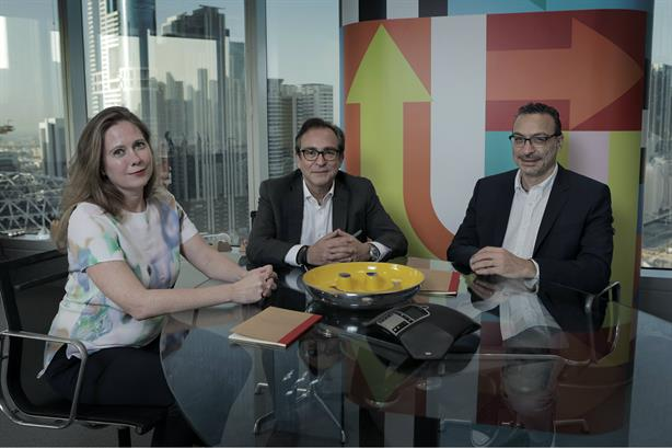 (Left to right) Lucy O'Brien, general manager and partner at FleishmanHillard Middle East; BBDO Middle East & Africa chairman & CEO Dani Richa; and Fouad Bou Mansour, COO at Impact Porter Novelli, MENA Region