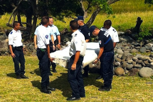 The two-metre piece of wreckage found on La Reunion