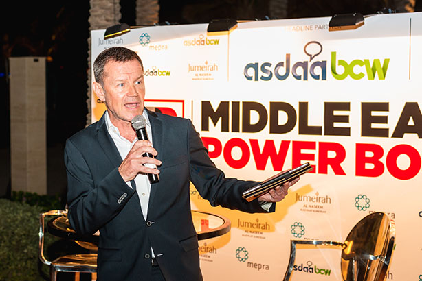 PRWeek EMEA editor-in-chief Danny Rogers launched the Middle East Power book in Dubai