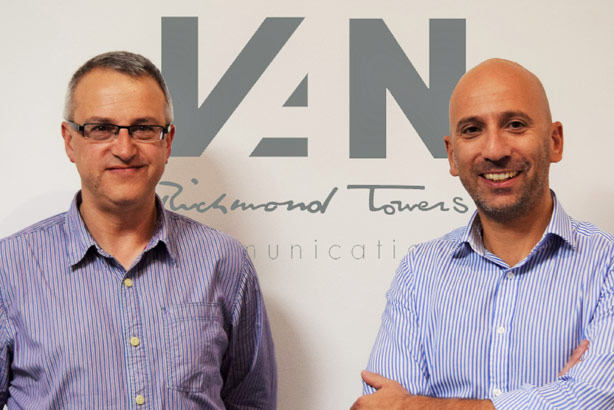 Van's Matt de Leon (right) will join Richmond Towers MD Rob Metcalfe (left) on the board
