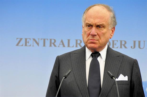 Ronald Lauder at a meeting against anti-semitism in 2014