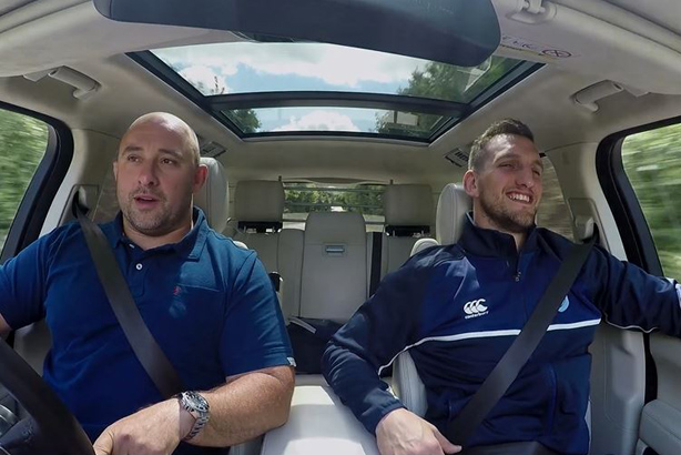 David Flatman and Wales rugby player Sam Warburton in their film for Land Rover