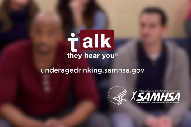 Still from SAMHSA's Talk. They Hear You. PSA (via YouTube)