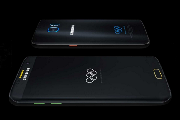 Samsung's limited edition Galaxy S7 edge for the 2016 Olympics