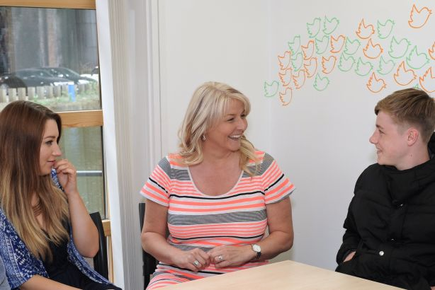 Sandy Lindsay (centre): Tangerine PR founder honoured for services to business and young people