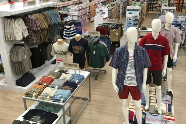A Sears men's department. (Image via the retailer's media page).
