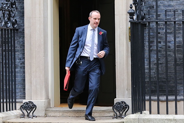 Brexit Secretary Dominic Raab would be expected to sell the deal, according to the 'leaked' document (pic credit:Dinendra Haria/Shutterstock)