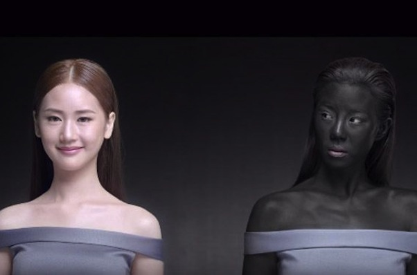 The Seoul Secret ad for new skin-whitening pill Snowz (screen grab)
