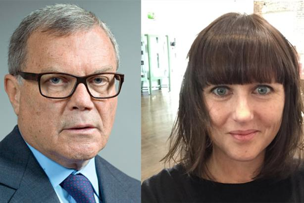 WPP CEO Martin Sorrell (l) and Erin Johnson