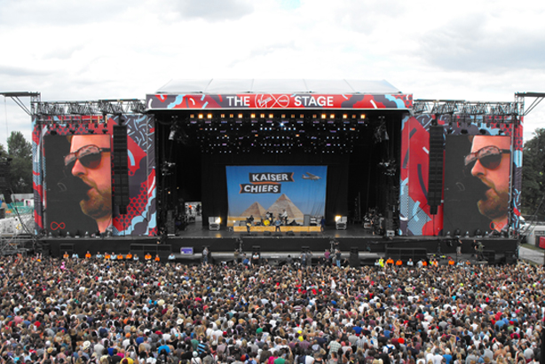 V Festival: Kaiser Chiefs performing on the main stage